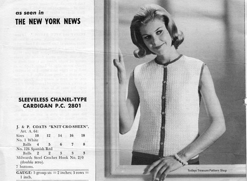 Knitted Sleeveless Blouse Pattern