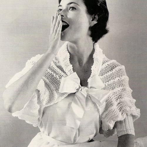 Vintage Lace Shouderette Knitting pattern