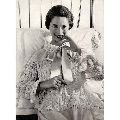 Girly Girl Knitted Bed Jacket Pattern
