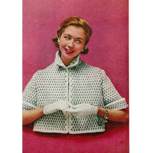 Short Sleeve Bedjacket Knitting pattern