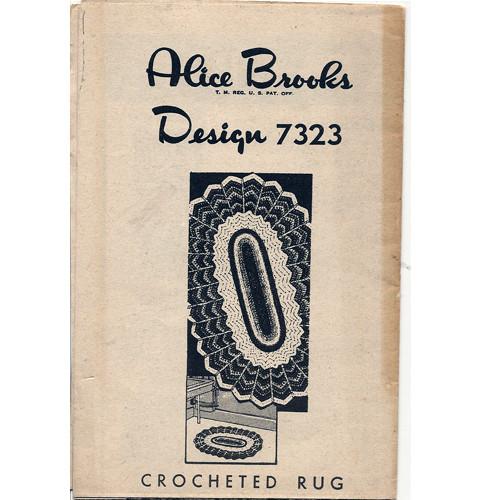 Alice Brooks 7323, Crochet Oval Rug pattern