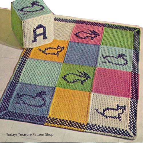 Kids Crochet Rug pattern and Block