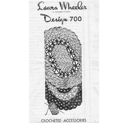 Laura Wheeler 700, Crochet Oval Mats Pattern