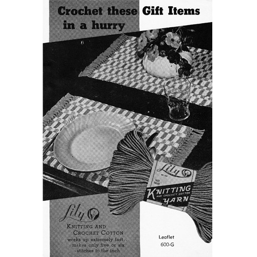 Lilly Leaflet Crochet Mats and Hot Plate Patterns