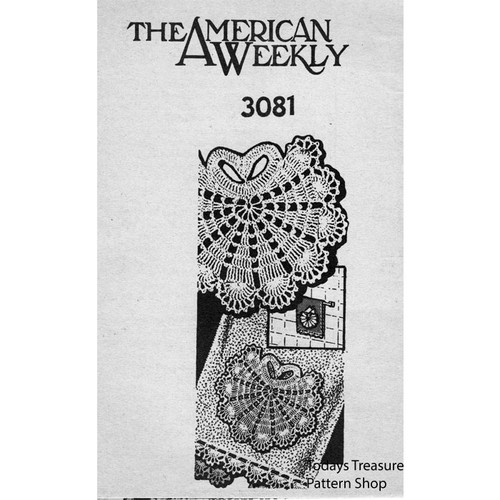American Weekly 3081, Crochet Shell Medallion with Edging