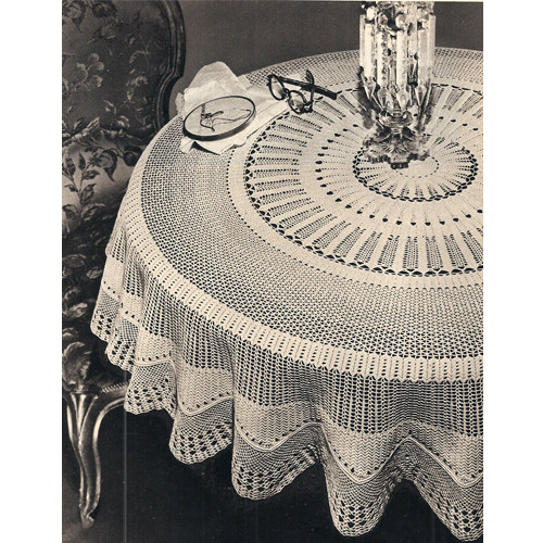 Round Victorian Crochet Tablecloth Pattern