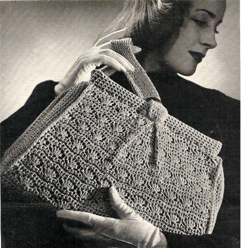Crochet Handbag Pattern in Shell Stitch