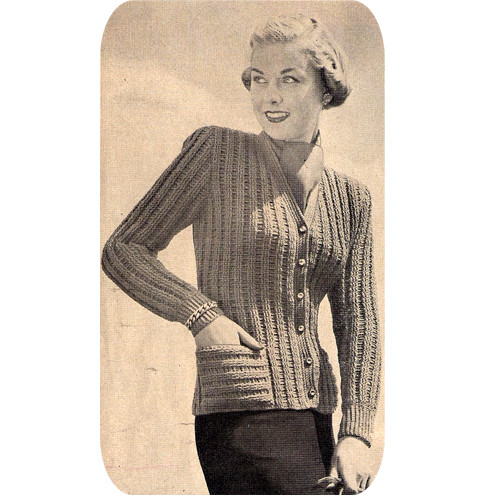 Crochet Ribbed Cardigan Pattern with Patch Pockets