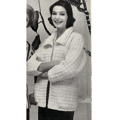 Vintage Car Coat Crochet Pattern