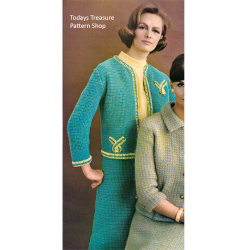 Crochet Suit Jacket Pattern from Columbia Minerva