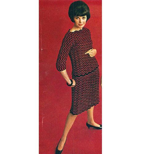 Vintage Crochet Ripple Two Piece Dress Pattern