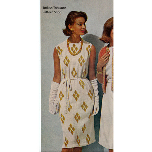 Harlequin Knit Dress Pattern, Sleeveless