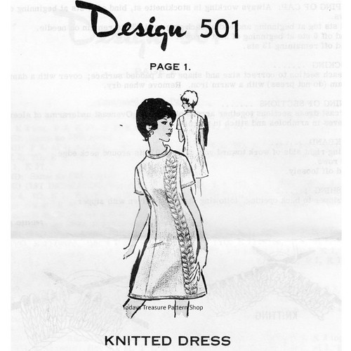 Mail Order Design 501, Knitted Dress Pattern