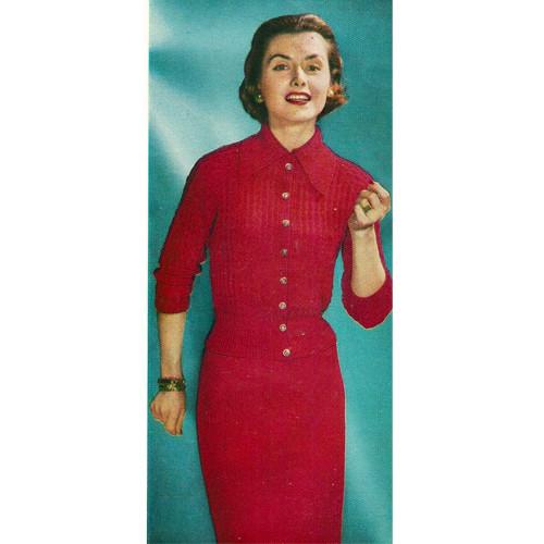 Knitted Shirtdress Pattern, Raglan Sleeves