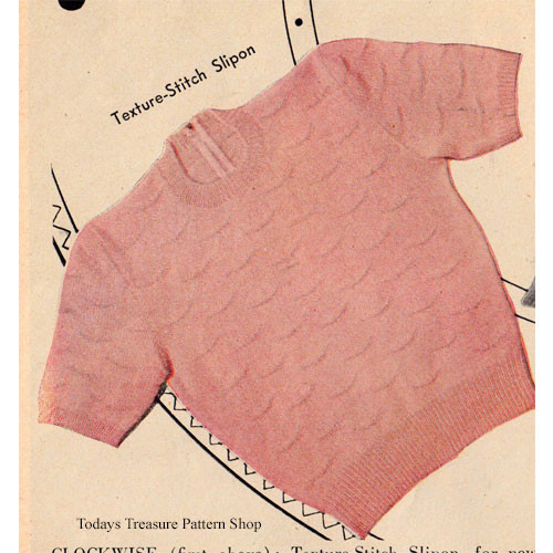 Knitted Short Sleeve Sweater Pattern