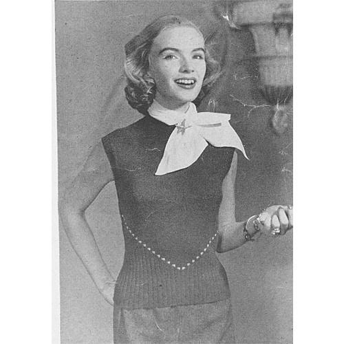 Knitted Sleeveless Sweater Pattern