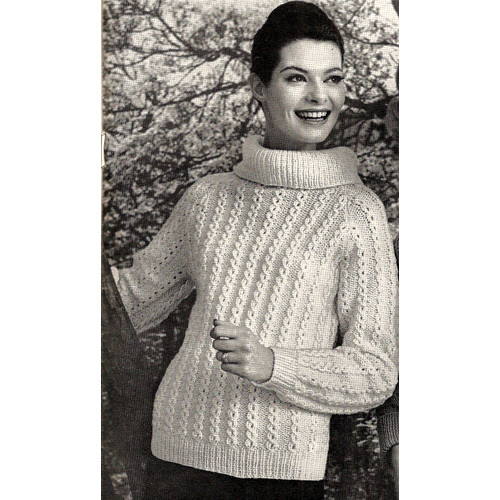 Knitted Cowl Pullover Pattern in knitting worsted