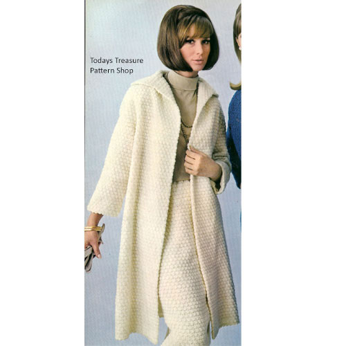 Loose Fitting Crochet Coat Pattern