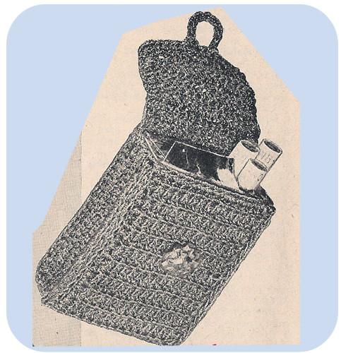 Crochet Cigarette Case Pattern, Vintage 1940s
