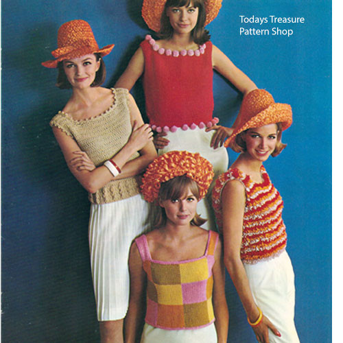 Knit Crochet Vintage Shells Pattern from Columbia Minereva