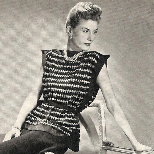Vintage Striped Tabard Knitting Pattern