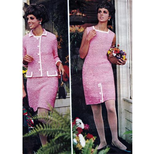 Two Piece Knitting Pattern, Dress & Jacket