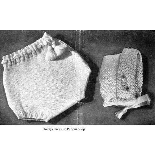 Free Knitted Pants and cap pattern