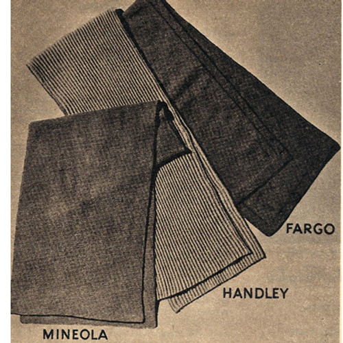 Free Beginner Scarf Knitting Pattern, Vintage 1940s