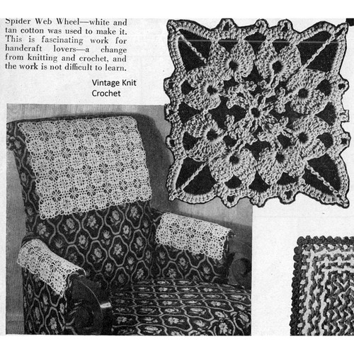 Vintage Medallion Chair Set Crochet Pattern