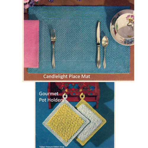Beginners Placemat Potholders Crochet Pattern