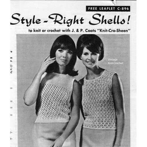 Sleeveless Top Knitted and Crocheted