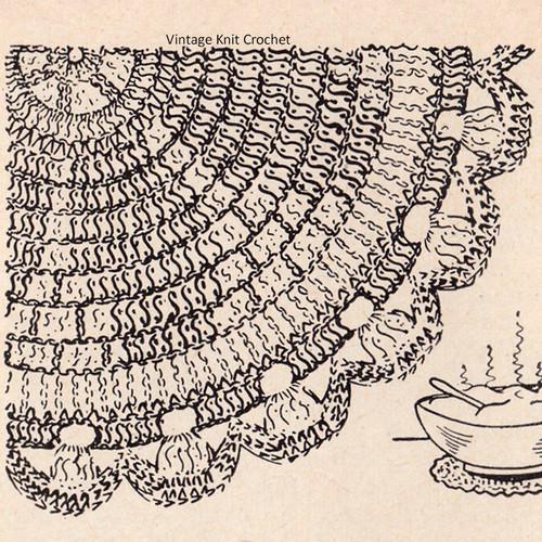 Workbasket Petal Wheel Crochet Mat Pattern