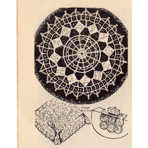 Workbasket Crochet Medallion Pattern, Merry Go Round, Vintage 1948