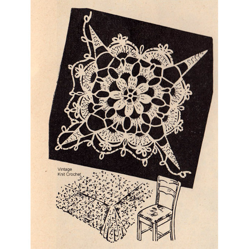Crochet Workbasket Tablecloth Square Pattern
