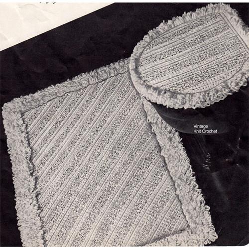 Crochet Bathroom Rug Pattern, Vintage 1950s