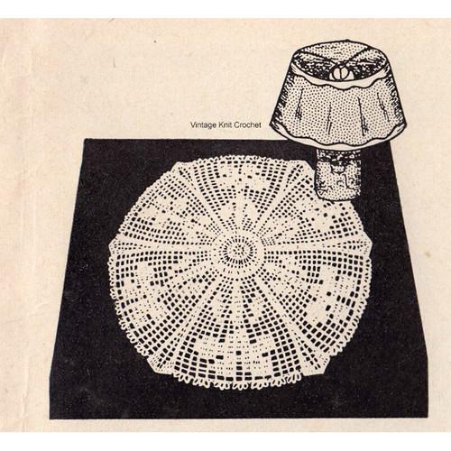 Workbasket Wild Iris Crochet Doily Pattern is 12 inches