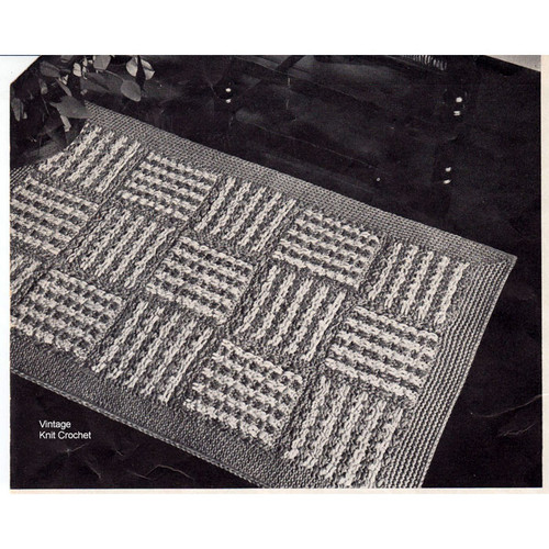 Crochet Geometric Block Rug Pattern