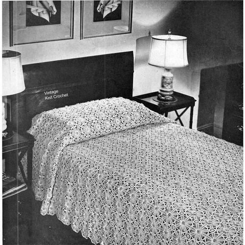 Vintage Crochet Bedspread Pattern No 6063