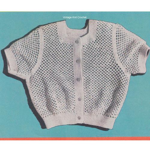 Crochet Short Blouse Pattern, The Eisenhower