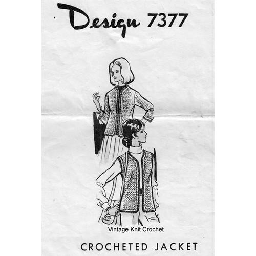 Alice Brooks Crochet Jacket Pattern Design 7377