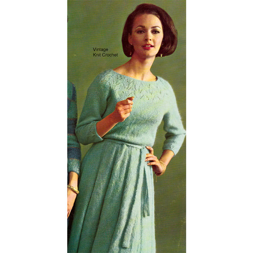 Yoked Mohair Dress Knitting Pattern