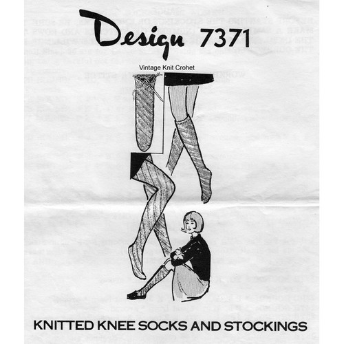 Knitted Stockings Pattern Mail Order Design 7371