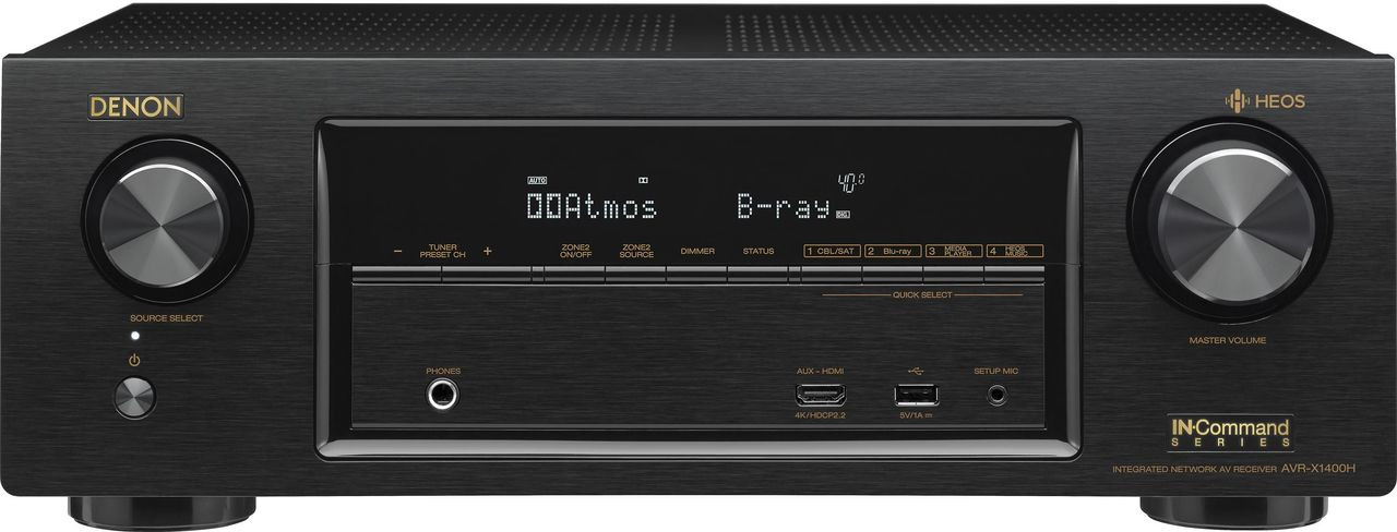 Denon® AVR-X1400H 7.2 Channel AV Surround Receiver-Black