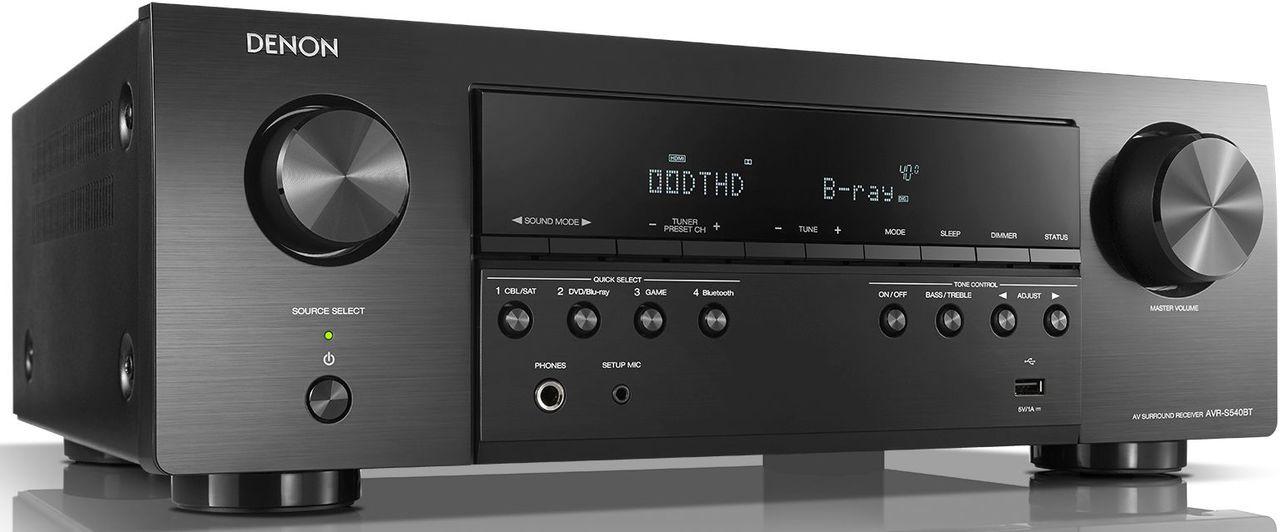 Denon® AVR-S540BT 5.2 Channel 4K Ultra HD AV Receiver