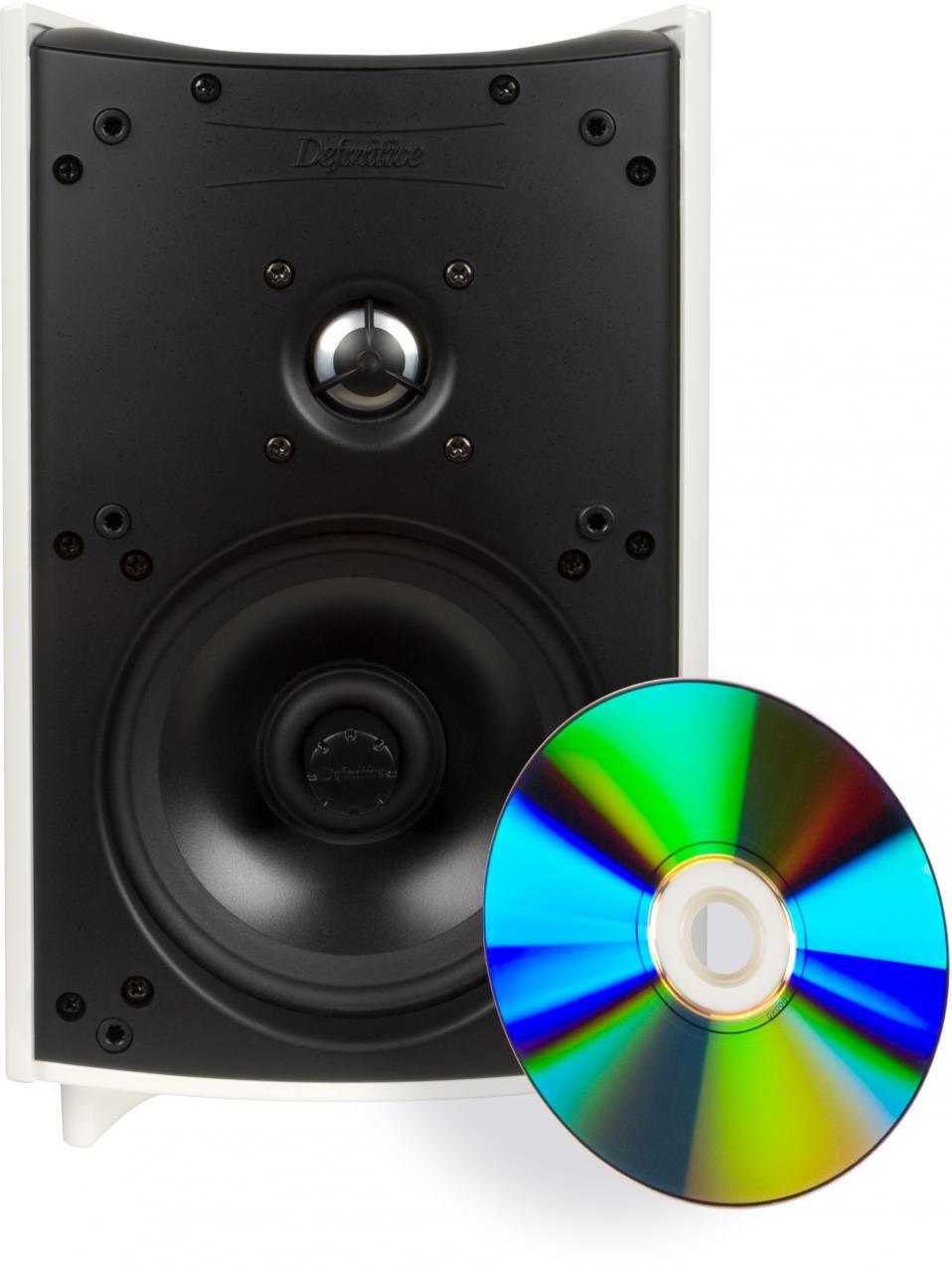 Definitive Technology® ProMonitor 1000WHT Satellite Speaker-Black