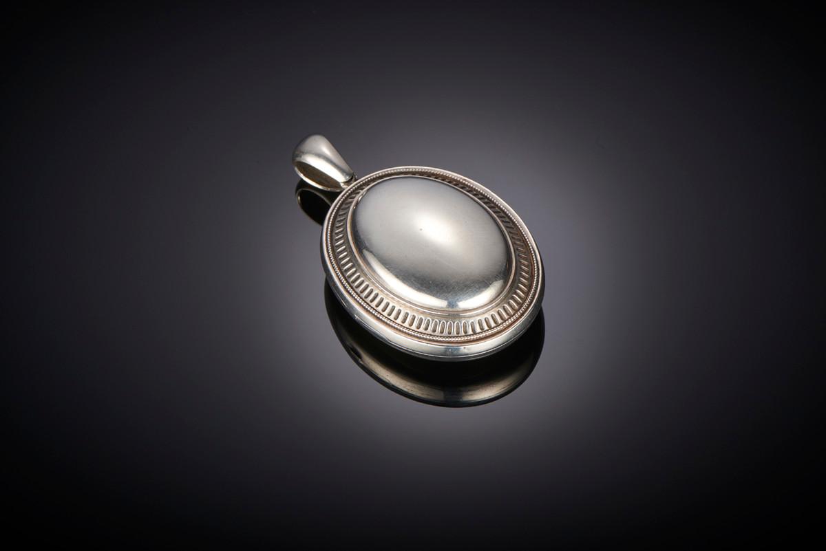 Exceptional Victorian Silver Locket.