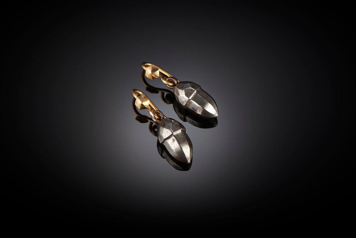 Steel Acorn Earrings