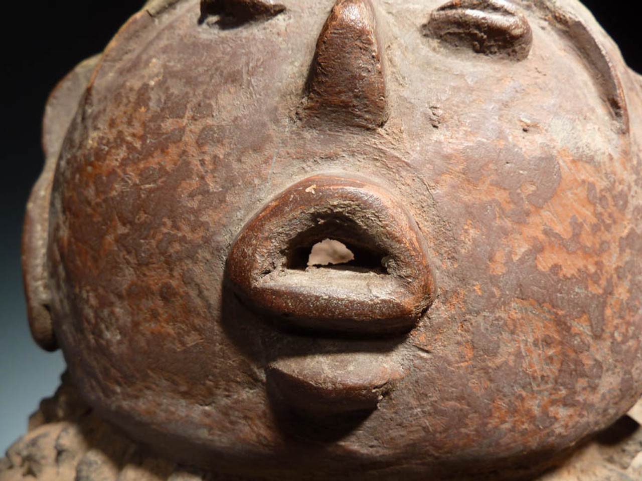 AF001 - RARE GIANT INTACT 30 INCH SACRED AFRICAN LOBI TRIBAL HUMAN SHRINE VESSEL