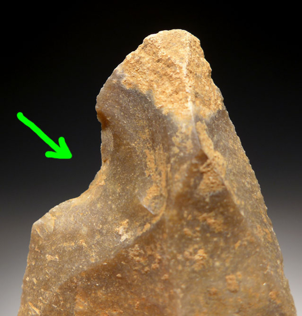 M379 - SUPERB MOUSTERIAN NEANDERTHAL CONCAVE NOTCH SCRAPER FLAKE TOOL FROM FRANCE
