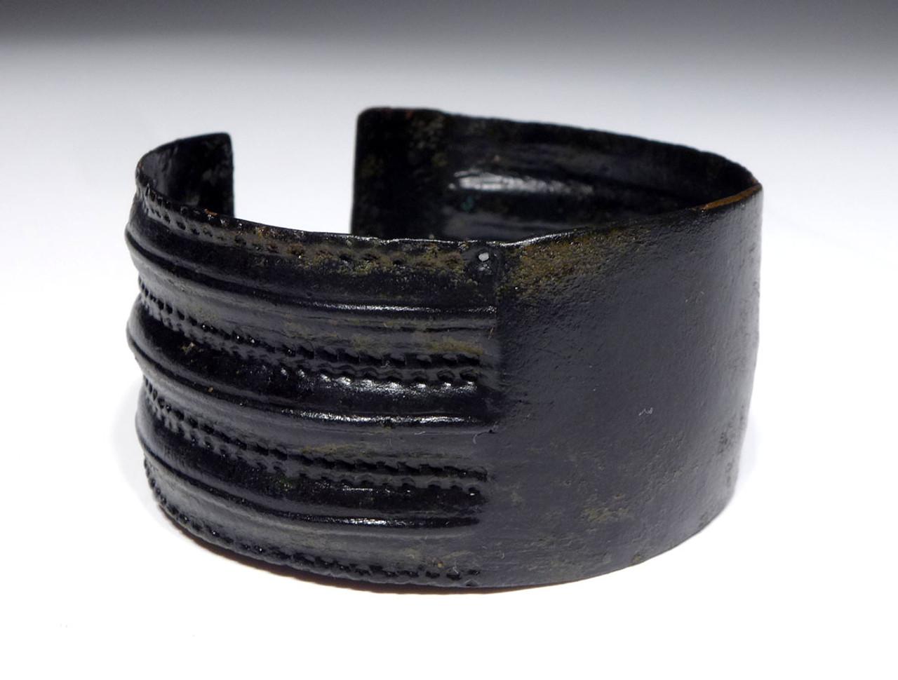 ANCIENT NEAR EASTERN HAMMERED DECORATIVE BRONZE BANGLE BRACELET *NE185